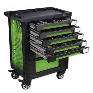 Carro de herramientas con dotación EVA verde