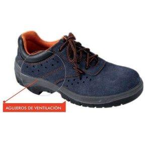 Zapato de seguridad bajo de serraje Mod. Incio