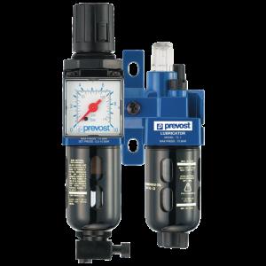 Filtro regulador lubricador 2 bloques con manómetro y fijación 1/4″