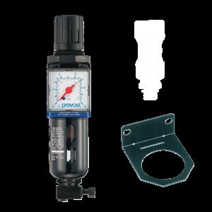 Filtro regulador con manómetro y fijación 3/8″