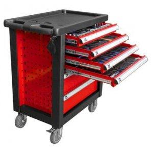 Carro de herramientas 6 cajones rojo