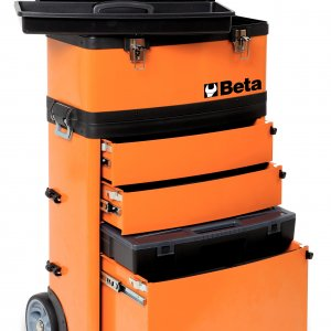 Trolley porta-herramientas con 3 cajones C41H naranja