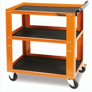 Carro de 3 estantes naranja
