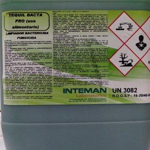 Limpiador bactericida-fungicida 10 L. (uso alimentario)