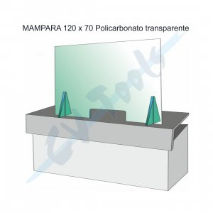 Mampara ventanilla anticontagio 120×70 cm.