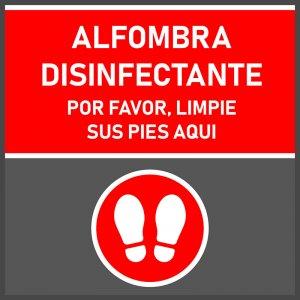 Alfombra desinfectante + secante 0,6 x 0,6 mts.