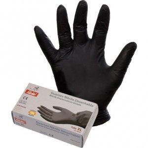 Caja guante nitrilo negro desechable (100 uds.)
