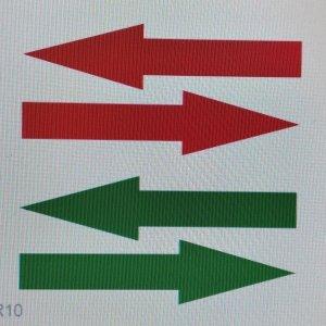 Juego 2 flechas adhesivas suelo 29×8 cm. pisables