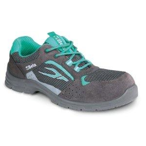 """Zapatos de mujer de ante perforado con elementos en malla """"Flex Lady"""" 7212LG"""