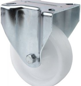 Rueda fija UT Poliamix blanco Ø 100 mm.