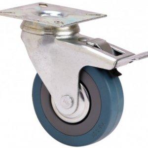 Rueda giratoria con freno Aro serie 310 goma gris Ø 50 mm.
