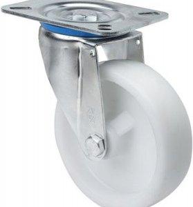 Rueda giratoria UT Poliamix blanco Ø 100 mm.
